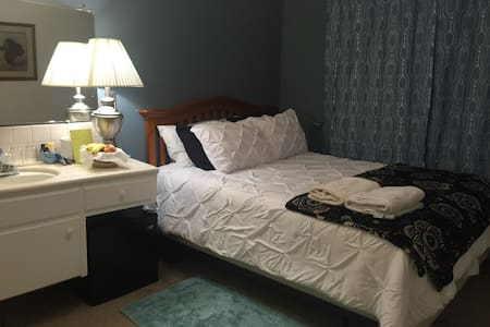Cozy single bd/queen bed near SCU - Santa Clara - Pis
