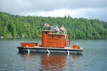 Amazing Sauna Boat in Adirondacks