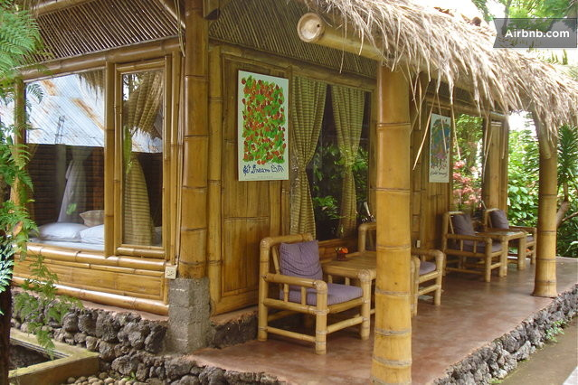 Bamboo cottages rural bali village in sawan for Small house design native