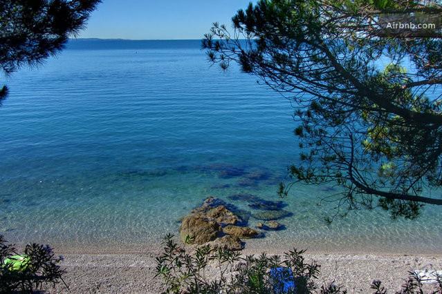 Aurisina Italy  City pictures : Vista della spiaggia e del mare dalla terrazza