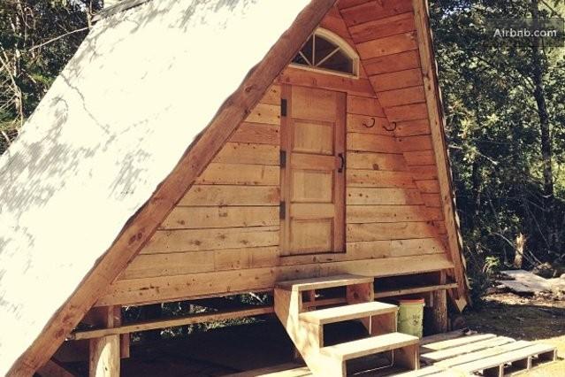 A Frame Rustic Off Grid Cabin In Gasquet