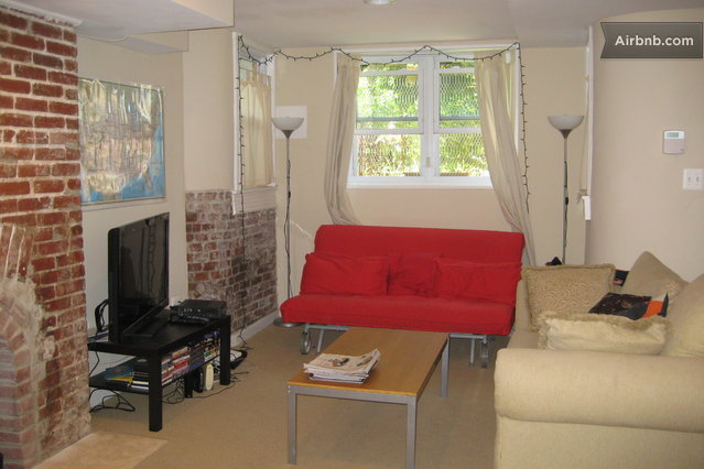 living room is equipped with hd cable private wireless internet