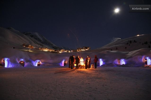 ADVENTURE IN THE SNOW - iglu night!