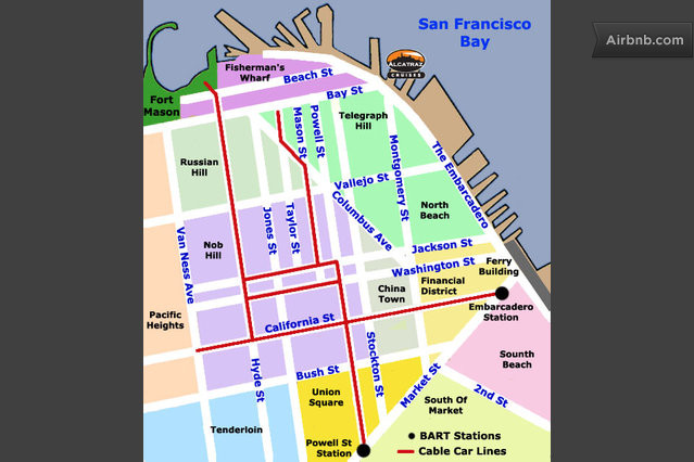 San Francisco Cable Car Route Map Pictures To Pin On
