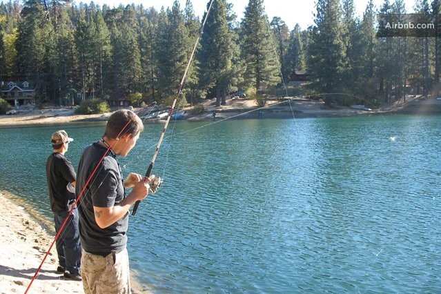 Camp juniper in cute lake community in green valley lake for Green valley lake fishing