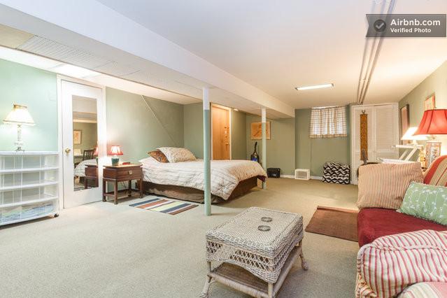Decorating Ideas > Weehawken Vacation Rentals & Short Term Rentals  Airbnb ~ 093319_Basement Studio Decorating Ideas