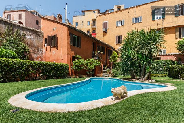 Loft with pool in trastevere rome in rome for Airbnb roma
