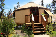 Chic Eco Yurt Home + Edible Gardens